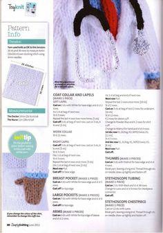 Medical Miracles Alan Dart (Find this pattern was really hard, I hope you enjoy it kisses, Ingrid Raquel) Handmade Dolls Patterns, Animal Knitting Patterns, Crochet Dolls Free Patterns, Stuffed Animal Patterns, Knit Or Crochet, Crochet Toys, Alan Dart, Simply Knitting, Knitting Magazine
