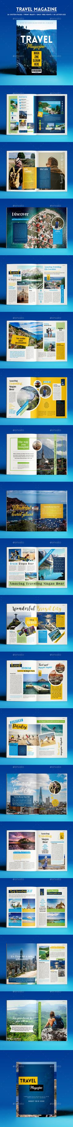 Travel Magazine — InDesign INDD #travel #album • Available here ➝ https://graphicriver.net/item/travel-magazine/20542190?ref=pxcr