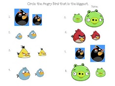 Apples and ABC's: Angry Birds - angry bird bigger or smaller free printable pdf