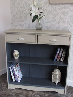 country grey and graphite bookshelf- for our bedroom white outside and graphite inside?