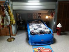 Garaged theme bedroom Garage themed bedroom Pinterest Garage