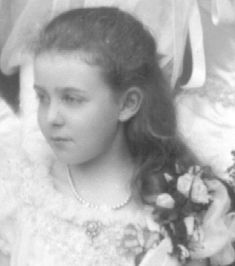 HRH Princess Margaret of Connaught, later Crown Princess of Sweden (1882-1920), cousin to George [V]. George and May of Teck wedding, 1893.