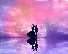 Disney Phone Wallpaper, Galaxy Wallpaper, Wallpaper Backgrounds, Fantasy Landscape, Fantasy Art, Dancing In The Moonlight, Pinturas Disney, Moon Photography, Anime Love Couple