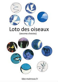 Le loto des oiseaux, pour jouer tout en se familiarisant avec les tableaux de peintres connus. (à imprimer et plastifier pour l'école) Magritte, Art History Memes, Learn Art, Arts Ed, Art Plastique, Matisse, Oeuvre D'art, Van Gogh, American History