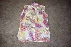 NWOT CAbi # 385 Feather Tunic Spring 2013 Silk Sleeveless Collar Yellow Medium M #CAbi #Tunic #Career