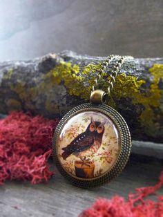 Owl necklace Owl jewelry Bird jewelry Bird by TriccotraShop
