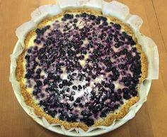 Kaurainen mustikkapiirakka (myös gluteeniton) Cream Cake, No Bake Desserts, Dessert Recipes, Goodies, Baking, Sweet, Tarts, Cakes, Custard Cake