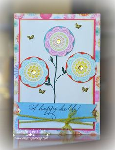 Welcome to the Stamp of the Month Blog Hop!! This month we are featuring February's stamp of the month ~ A Happy Hello(S1502) a set of 15.