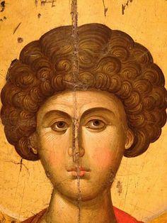 Face Icon, Roman Art, Saint George, Orthodox Icons, Sacred Art, Hair And Beard Styles, Christian Art, Religious Art, Byzantine