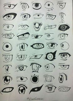 Manga eyes, how to draw anime eyes, drawing lessons, drawing techniques, ey Eye Art, Cartoon Drawings, Anime Eye Drawing, Art Drawings, Drawings, Manga Drawing, Drawing Sites, Anime Drawings, Manga Eyes