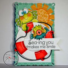 A Jillian Vance Design: You're a keeper A Jillian Vance Design: Seas the Day ~ Introducing Melyssa of Whimsie Doodles, new AJVD Illustrator!!! #WhimsieDoodles #SeastheDay #crabs #cardmaking #ocean