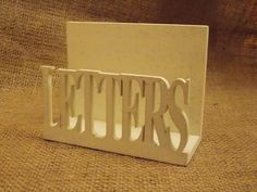 Wooden Cream Letter Rack, £5.95 Letter Rack, Shabby Chic Style, Rustic, Lettering, Cream, Country Primitive, Creme Caramel, Retro, Drawing Letters