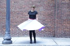 Circle Skirt wPockets :: Calculating yardage needed, measuring waist and length, and using π to figure waist radius.