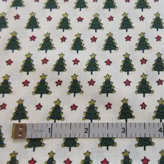 Vintage St. Nicole Designs For Benartex Quilt/Craft Fabric = Small Print -  Christmas Trees - 1/2 Yd. by QuiltFabricsPlus on Etsy