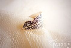 Whimsical Feather Wrapped Ring  Antiqued Silver by quiteqwerty, $10.00