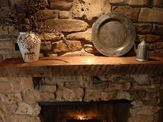 Traditional Fireplace Mantel Shelves Stone For Decoration