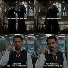 I'm so Iron Man, in this situation Marvel 3, Funny Marvel Memes, Avengers Memes, Marvel Jokes, Disney Marvel, Marvel Heroes, Captain America Black Widow, Black Widow Marvel, Marvel Couples
