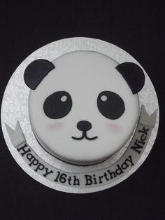 Panda Bear cake Perfect as a rice crispy treat with Oreo and chocolate Panda Cupcakes, Cupcakes Fondant, Cupcake Cakes, Panda Birthday Cake, Bear Birthday, Themed Birthday Cakes, Themed Cakes, Panda Bear Cake, Bolo Panda