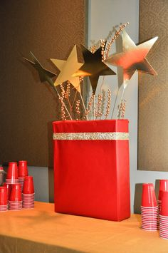 Hollywood Red Carpet themed party reception