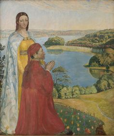 """""""Dante and Beatrice in Paradise"""" (1893) by Poul S. Christiansen via Wikimedia Commons."""
