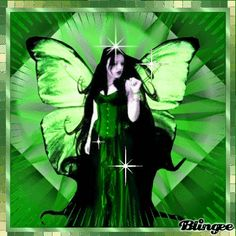 Green Butterfly | green butterfly lady Picture #100965213 | Blingee.com