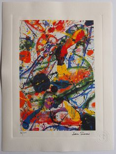 Sam Francis Original Limited Edition by ValueVintagePrints on Etsy