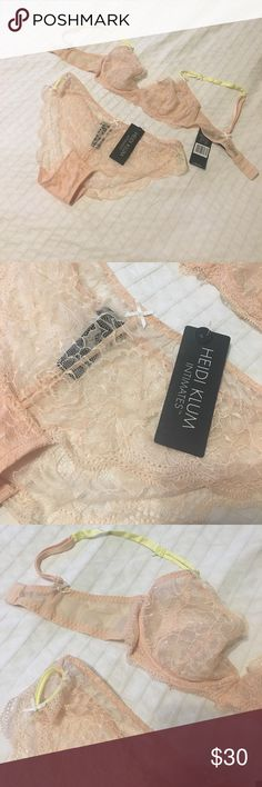 Heidi Klum lingerie set. Never worn Heidi Klum lingerie set. The bottoms are a medium and the bra is a size 34B. Still with tags. Heidi Klum Intimates Intimates & Sleepwear Bras