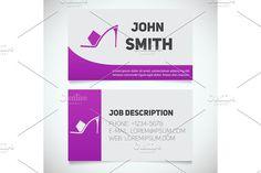 Business card print template with high heel shoe logo @creativework247
