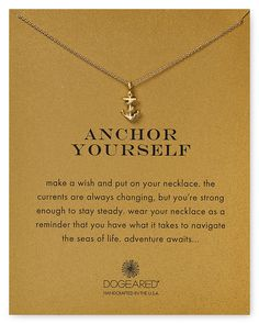 Dogeared Anchor Yourself Necklace, 18"