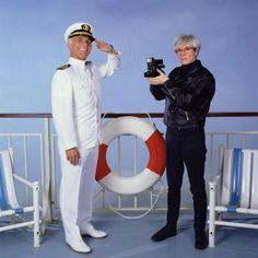 The Love Boat - Gavin MacLeod with special guest star Andy Warhol.