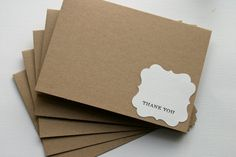 Thank You Cards Set by RainyDayColors on Etsy, $4.99