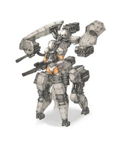 ArtStation - Mech with figure, Dunhuang Chen