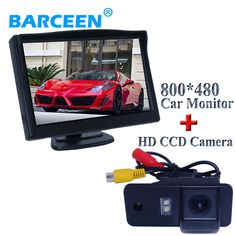 "5"" wide car screen monitor  type with the shockproof car rearview camera black plastic shell apply for  Audi A6L"
