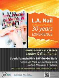 L.A. Nail | JSA Ads  Check us out at jsanow.com  #advertising #marketing #promotion #design #Clarksville #Nashville #Tennessee