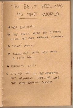 best feelings in the world: totally agree