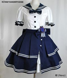 2014.04.23 NEW!Sailor Tuck Skirt (Solid Color)