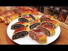 (35) Bejgli Beigli Diós Mákos @Szoky konyhája - YouTube Sweets Recipes, My Recipes, Cake Recipes, Cooking Recipes, Favorite Recipes, Xmas Food, Christmas Desserts, Christmas Baking, Hungarian Desserts