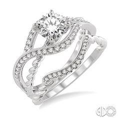 14K White Gold Wedding Set (Ross Elliott Jewelers)