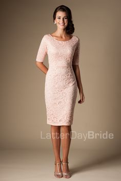 Modest Bridesmaid Dresses : MW22874  COCKTAIL DRESS OPTION! :)