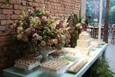 flores- mesa de doces -wedding