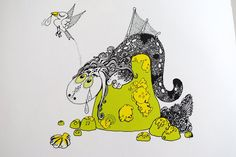 Ruffen - Drawings by Thore Hansen Zentangle, Thor, Snoopy, Illustrations, Drawings, Fictional Characters, Inspiration, Art, Sketches