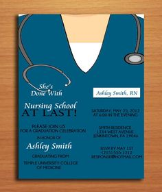 Nursing Pharmacist Medical Degree Graduation Party Invitation