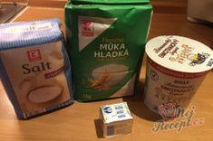 Nejlepší náhrada chleba z hrnečku. Placky z bílého jogurtu, které zvládne připravit i začátečník.   NejRecept.cz Salt, Yummy Food, Bread, Homemade, Coffee, Cooking, Kaffee, Kitchen, Delicious Food