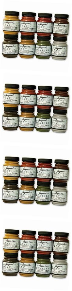 Fabric Paints and Markers 134560: Products Textile Color Paint Set, Earth Tones -> BUY IT NOW ONLY: $37.7 on eBay!