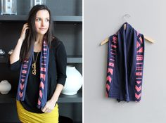How to Make Reverse Tie Dye Jersey-Knit Scarves | Brit + Co.