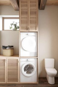 Zen Laundry Room Design Inside House CZ Downstairs by Ruda Studio Studio Interior, Bathroom Interior Design, Modern Interior Design, Interior Design Inspiration, Interior Garden, Kitchen Interior, Interior Ideas, Style Inspiration, Small Laundry Rooms
