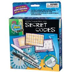 Fun Lab Secret Codes - Send and receive top secret communications with a friend while learning about cryptology, the science behind codes and hidden messages!