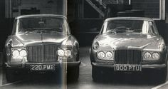 Prototype Burma (left-hand side) and 1961 prototype Korea 61-B Sports Coupé by Park Ward (right-hand side) proposed as a Continental version of the Burma prototype