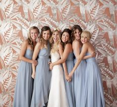 Love this with the bride and bridesmaids.