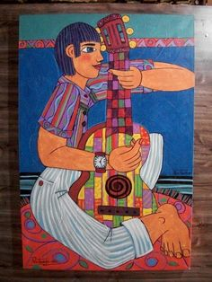 O Violeiro - Óleo sobre tela Joubert Santos